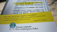 Imagen de un tríptico promocional del Proyecto Urbanita